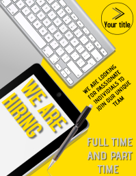 WE ARE HIRING POSTER FLYER TEMPLATE