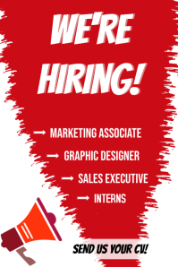We Are Hiring Poster Template