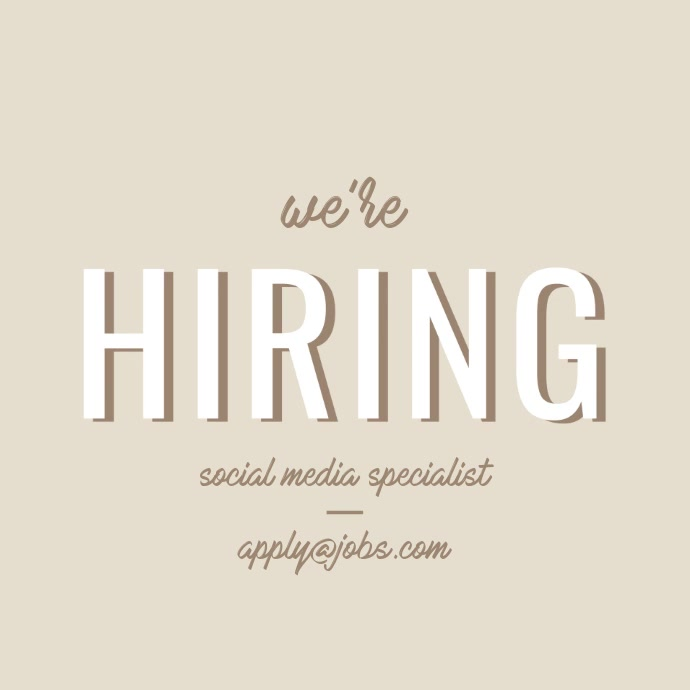 We Are Hiring Video Post