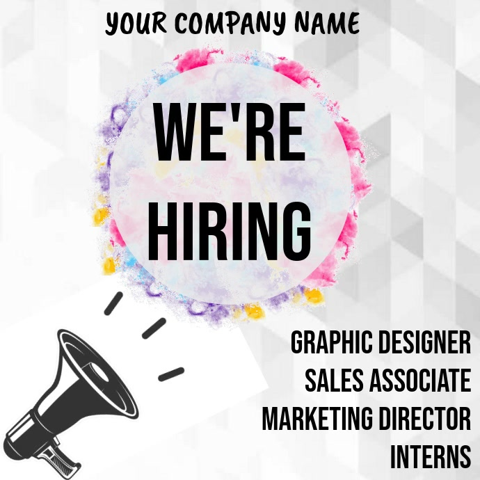 We Are Hiring Video Template