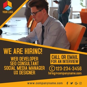 We Are Hiring Video Template Instagram Post