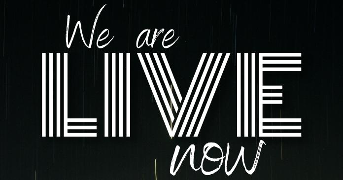 we are live Изображение, которым поделились на Facebook template