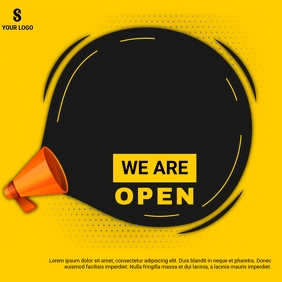 WE ARE OPEN AD Instagram Post template