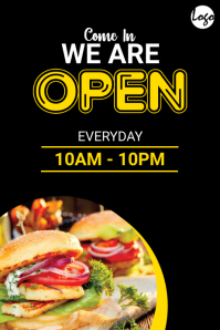 We Are Open Banner template