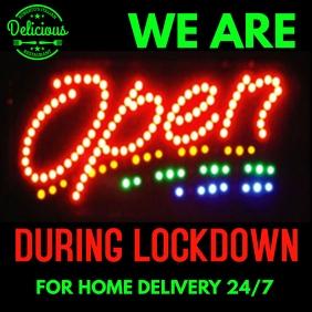 We Are Open Coronavirus Lockdown Template