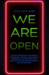 we are open Tablóide template