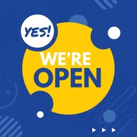 We Are Open โพสต์บน Instagram template