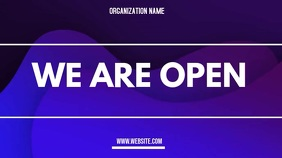 we are open Цифровой дисплей (16 : 9) template