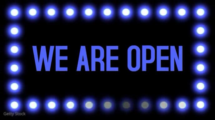 We Are Open Instagram Video Digitale Vertoning (16:9) template