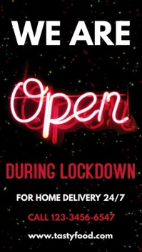 We Are Open Lockdown Video Template