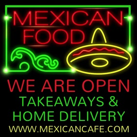 We Are Open Mexican Food Template