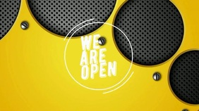 We are open now Цифровой дисплей (16 : 9) template