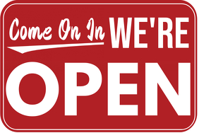 We Are Open Poster Template