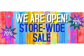WE ARE OPEN RETAIL SALE OUTDOOR 4'x6'BANNER
