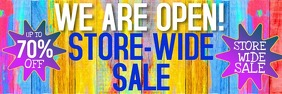 WE ARE OPEN SALE BANNER