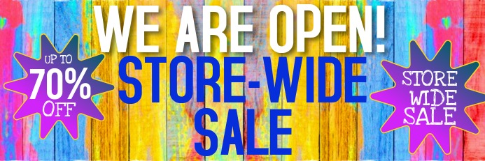 WE ARE OPEN SALE BANNER template