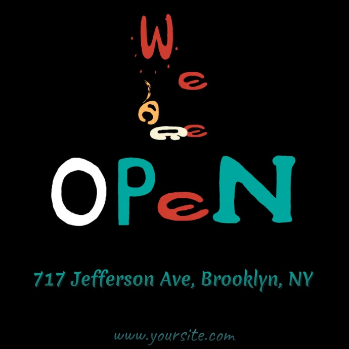 We are open sign video ad