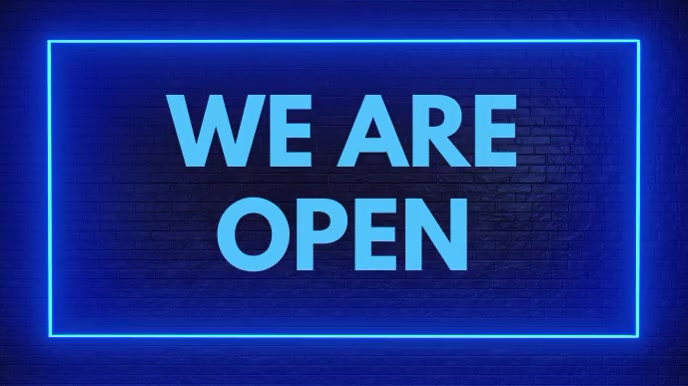 We Are Open Video Ad Template Digital Display (16:9)