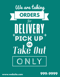 We are taking orders for delivery pick up ad