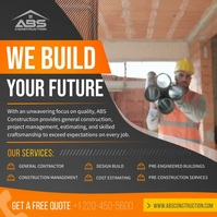 We build your future construction Instagram s Квадрат (1 : 1) template