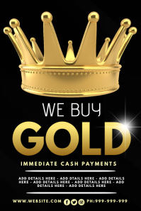 We Buy Gold Poster