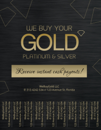 We Buy Gold Tear Off tabs Flyer Template
