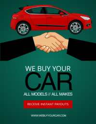 We Buy Your Car Flyer Promo Template