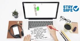 We Can Help - Online Office delt Facebook-billede template
