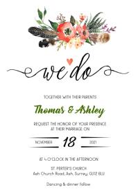 We do floral wedding invitation