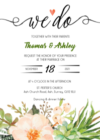 We do floral wedding invitation