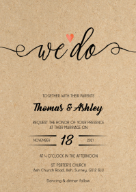 We do Rustic kraft wedding invitation 2