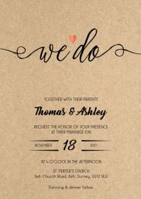 We do Rustic kraft wedding invitation 2