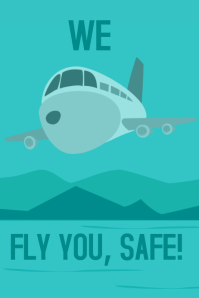 We fly you, a travel poster
