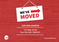 We have moved banner Kartu Pos template