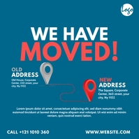 We Have Moved Message Instagram template