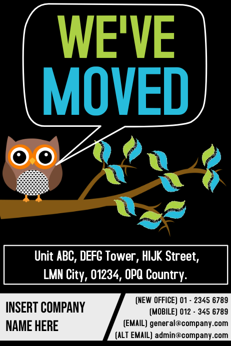 We Have Moved Poster Template