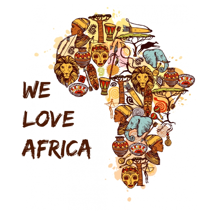 We Love Africa Flyer Template