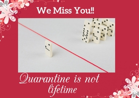 We miss you- quarantine Postal template