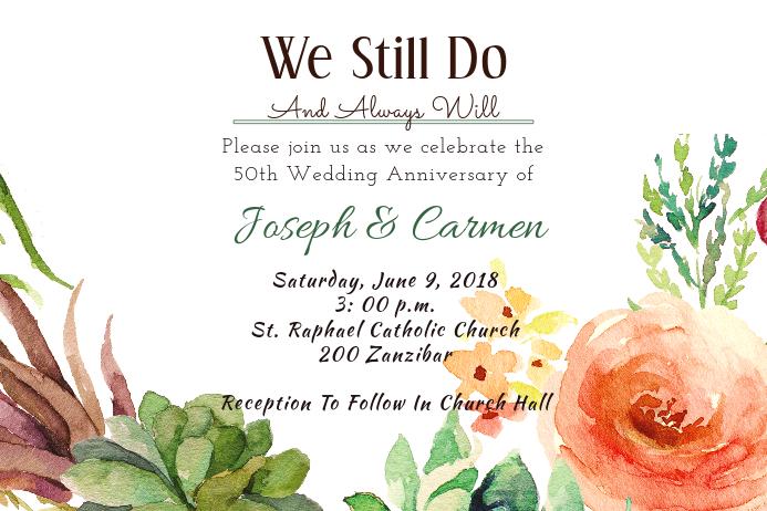 Anniversary Rose Invitation