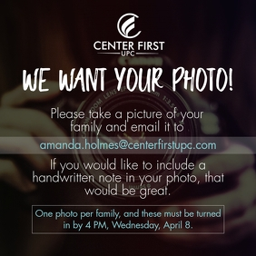 We Want Your Photo Instagram Post template