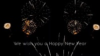 We wish you a happy new year 2020 firework ad Pantalla Digital (16:9) template