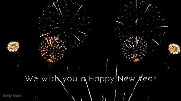 We wish you a happy new year 2020 firework ad Digital na Display (16:9) template