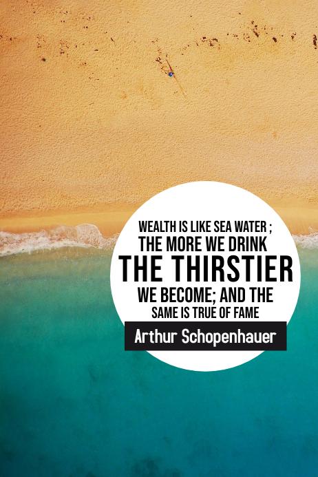 Wealth water Schopenhauer inspirational 2