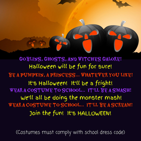 Wear a Costume to School