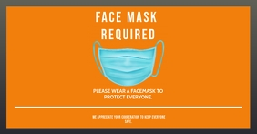 WEAR A FACE MASK TO ENTER PROPERTY FLYER Imagem partilhada do Facebook template