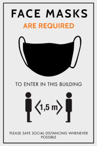 WEAR A FACE MASK TO ENTER PROPERTY FLYER Poster template