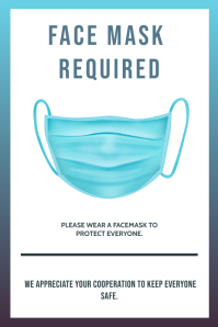 WEAR A FACE MASK TO ENTER PROPERTY FLYER Plakkaat template