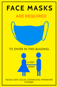 WEAR A FACE MASK TO ENTER PROPERTY FLYER Plakat template