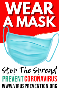 Wear a Mask Coronavirus Prevention Template