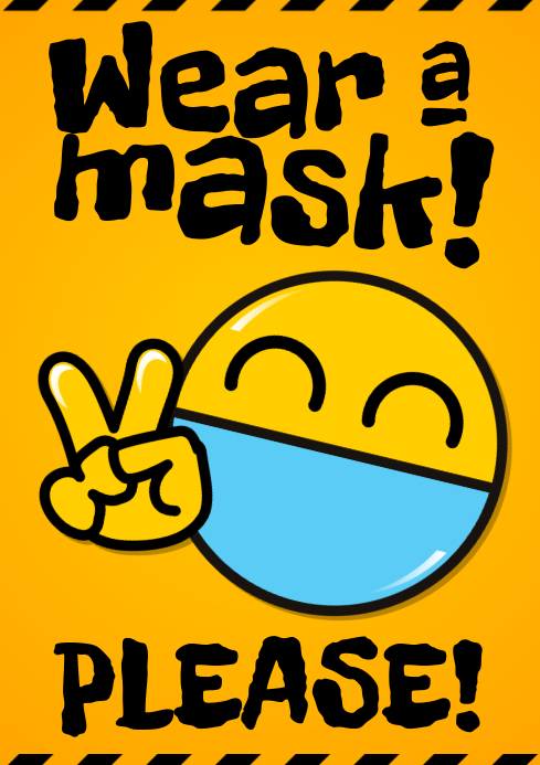 WEAR A MASK POSTER A4 template